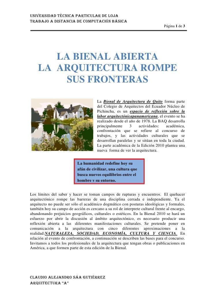 3810324485LA BIENAL ABIERTALA ARQUITECTURA ROMPE SUS FRONTERAS00LA BIENAL ABIERTALA ARQUITECTURA ROMPE SUS FRONTERAS<br ...