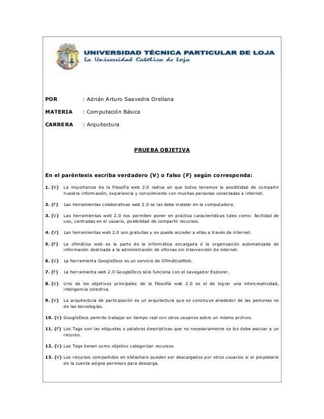 POR              : Adrián Arturo Saavedra OrellanaMATERIA          : Computación BásicaCARRERA          : Arquitectura    ...