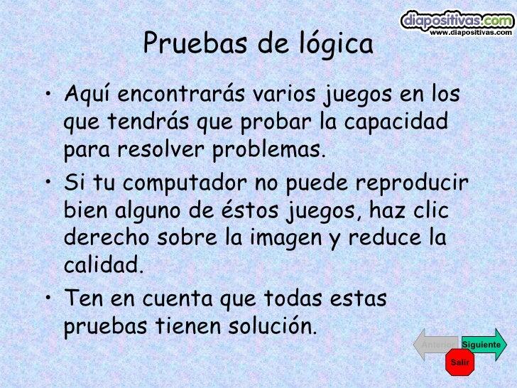Pruebas de-logica-www.diapositivas.com