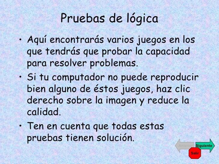 Pruebas De LóGica