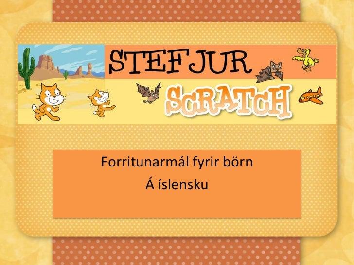 Forritunarmálið Scratch