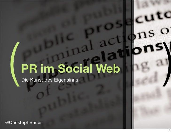 PR und Social Media @ Startconference 2010