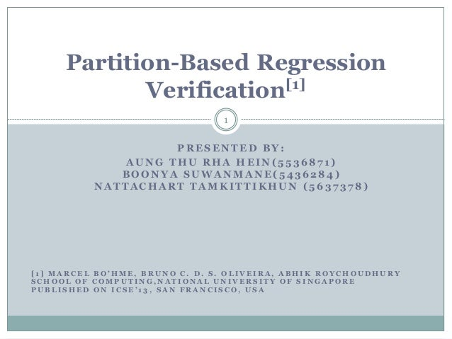 Partitioned Based Regression Verification