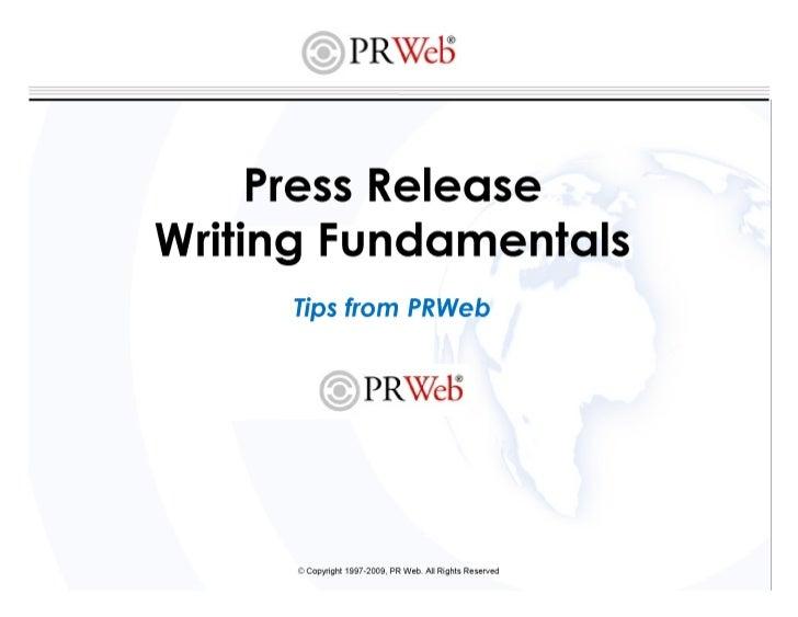 Pr writing fundamentals