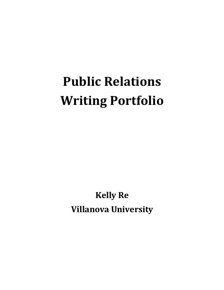 Public Relations writting documents