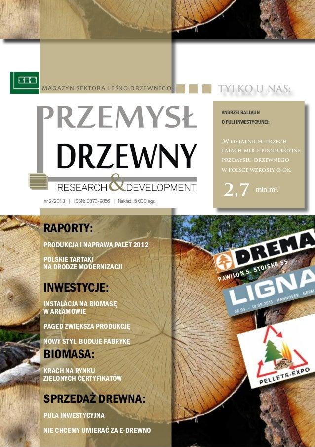 Przemysl Drzewny. Research & Development nr 2/2013