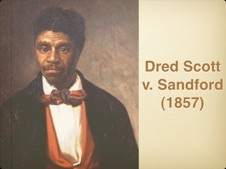 dred scott essay See end of background essay on page 13: did scott have standing to sue were blacks entitled to rights as citizens dred scott, a slave, filed a.