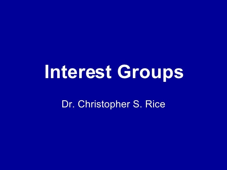PS 101 Interest Groups