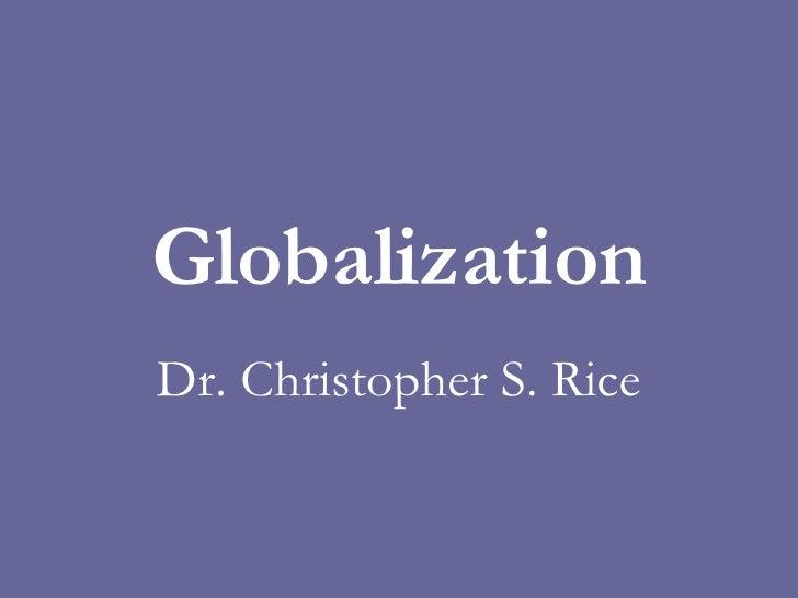 PS 240 Globalization Fall 2007