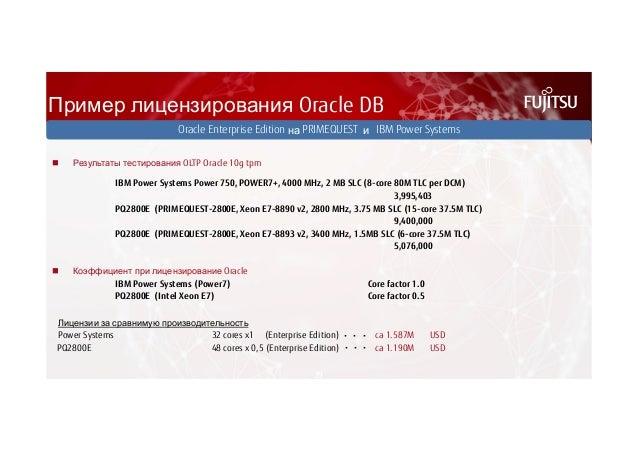 Пример лицензирования Oracle