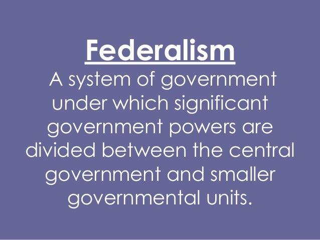 PS 101 Federalism Fall 2013