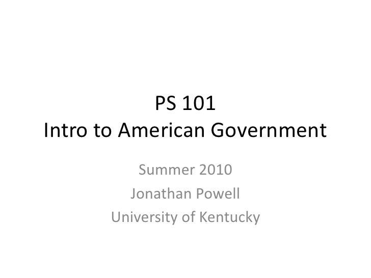 Ps 101 intro