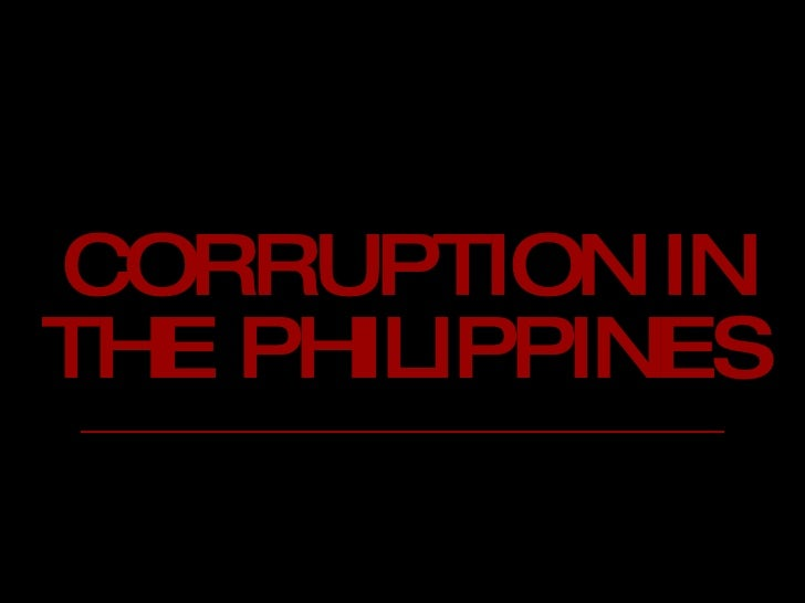 Corruption in the Philippines