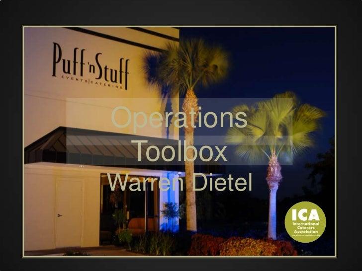 Operations Toolbox<br />Warren Dietel<br />
