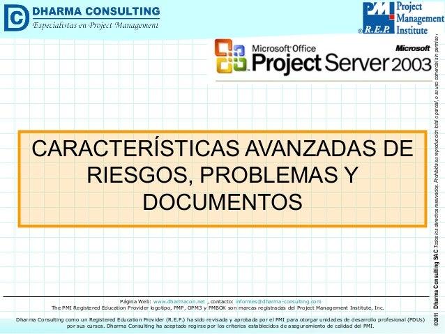 Tips para MS Project 2003: Características Avanzadas de Riesgos, Problemas y Documentos