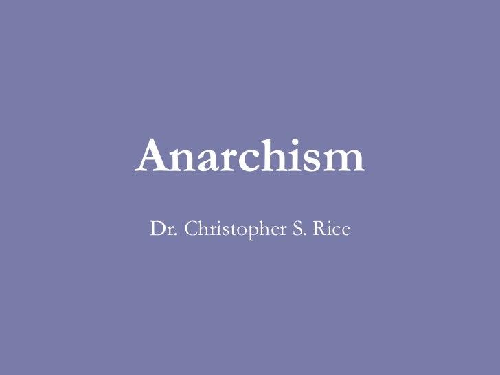 PS 240 Anarchism Spring 2011