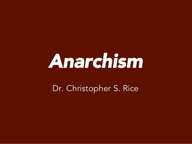 PS 240 Anarchism spring 2014