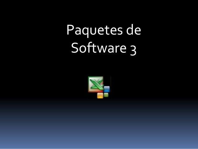 Paquetes de Software 3