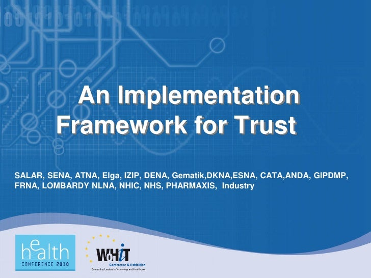 An Implementation Framework for Trust: National Contact Points