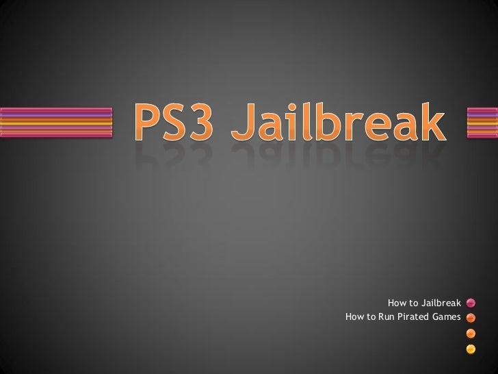 PS3 Jailbreak 4.00-JB