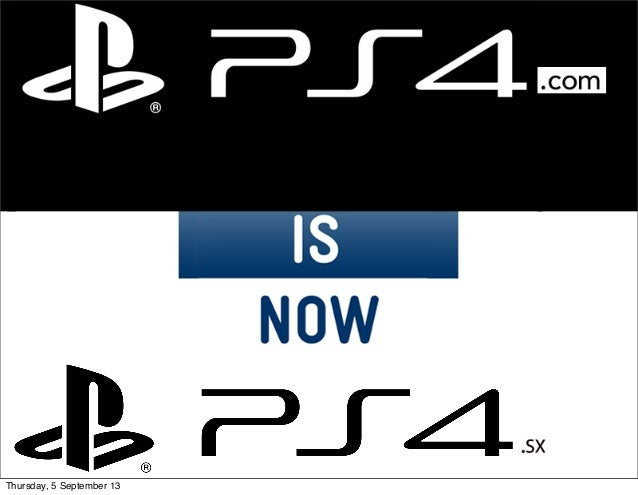 PS4.com is now PS4.sx