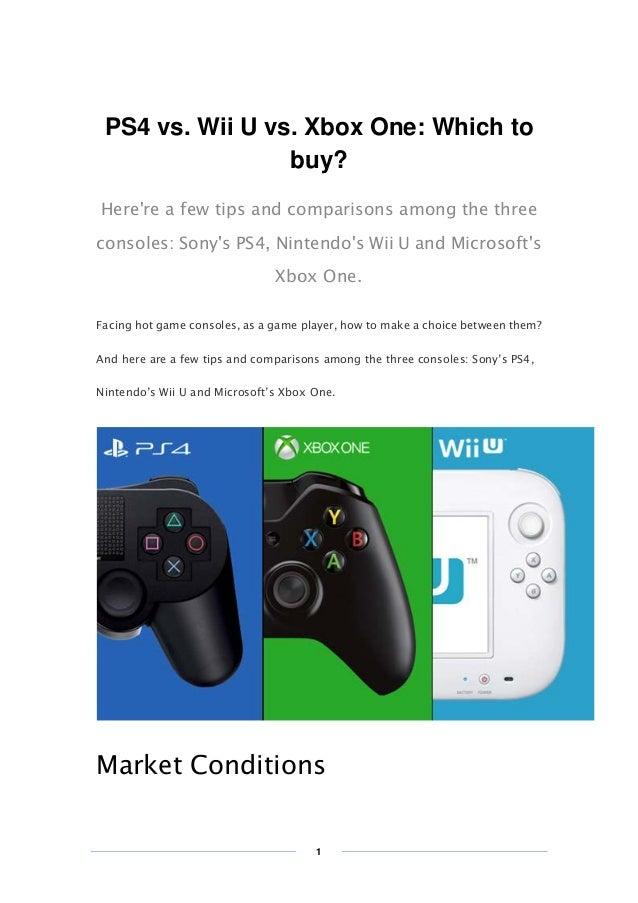 Xbox 1 Vs Ps4 Vs Wii U 【PS4 vs. Wii U vs. X...