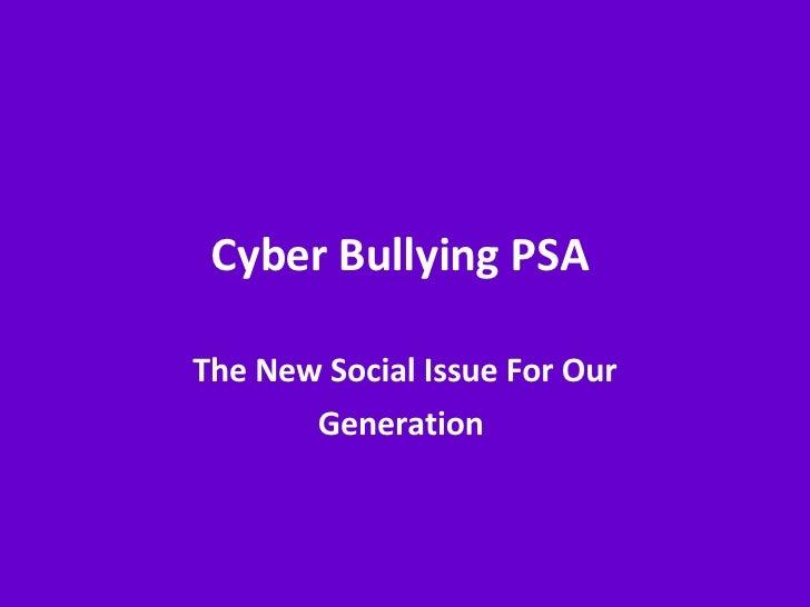 Psas For Cyber Bullying