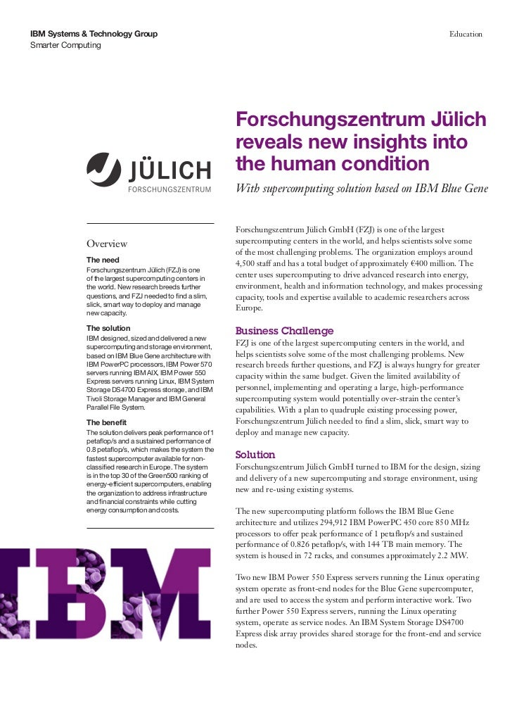 Forschungszentrum Jülich  reveals new insights into  the human condition