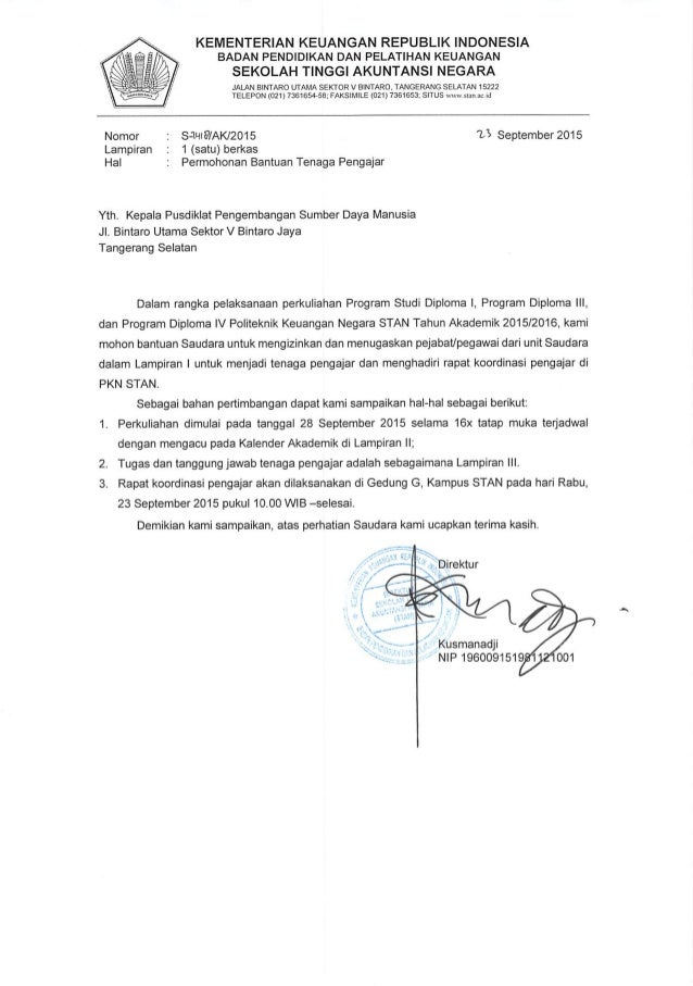 KEMENTERIAN KEUANGAN REPUBLIK INDONESIA BADAN PENDIDIKAN DAN PELATIHAN KEUANGAN  SEKOLAH TINGGI AKUNTANSI NEGARA  JALAN BI...