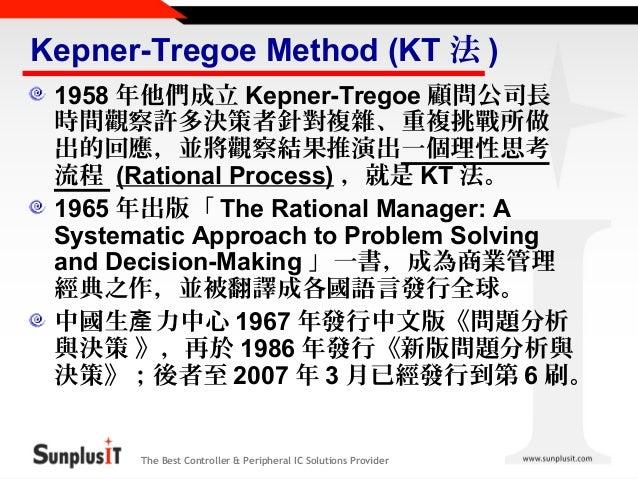 Kepner Tregoe Problem Solving And Decision Making