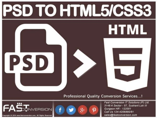 PSD to HTML5/CSS3 – Web Design Conversion ServicePsd to html5