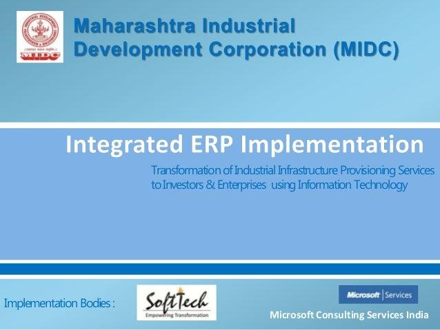 TransformationofIndustrialInfrastructureProvisioningServicestoInvestors &Enterprises usingInformation TechnologyMicrosoft ...