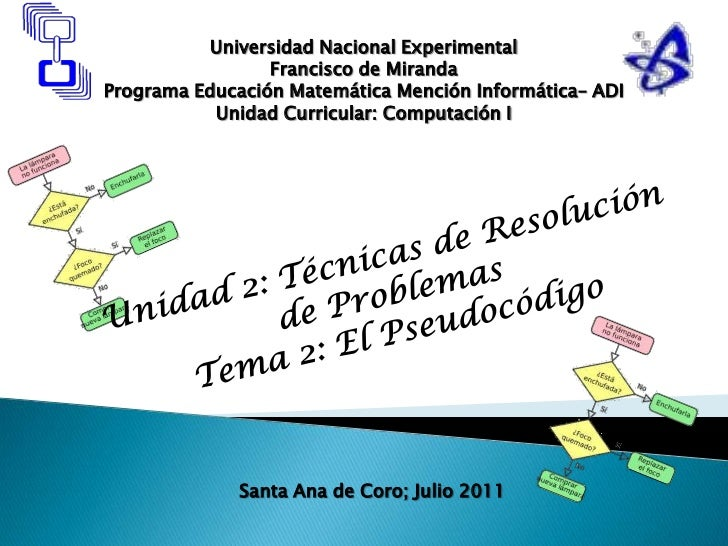 Universidad Nacional Experimental<br />Francisco de Miranda<br />Programa Educación Matemática Mención Informática– ADI<br...