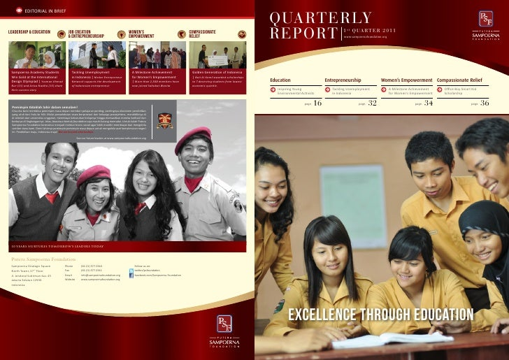 Putera Sampoerna Foundation Report Quarter 1 2011