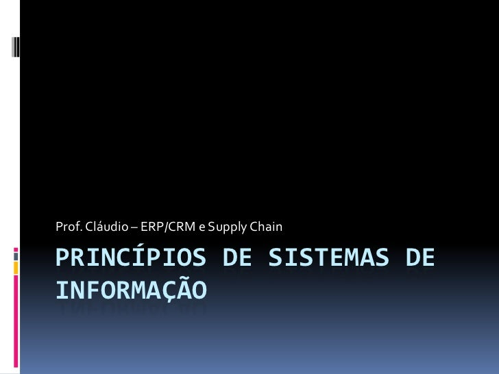 Sobre ERP CRM e Supply Chain