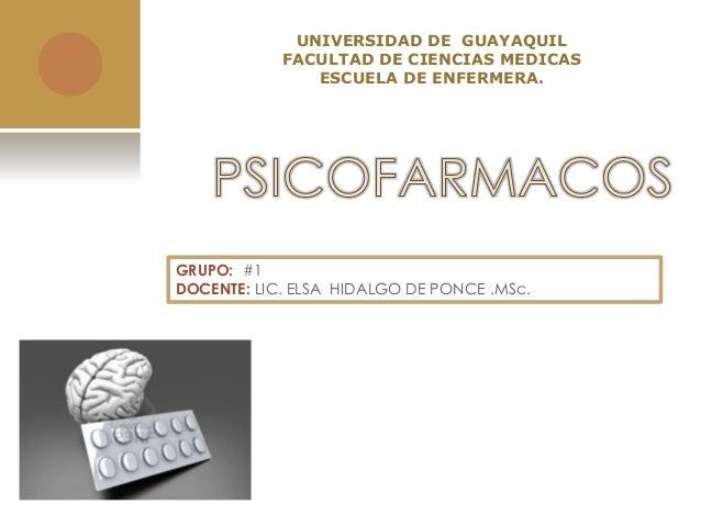 UNIVERSIDAD DE GUAYAQUIL FACULTAD DE CIENCIAS MEDICAS ESCUELA DE ENFERMERA.  GRUPO: #1 DOCENTE: LIC. ELSA HIDALGO DE PONCE...