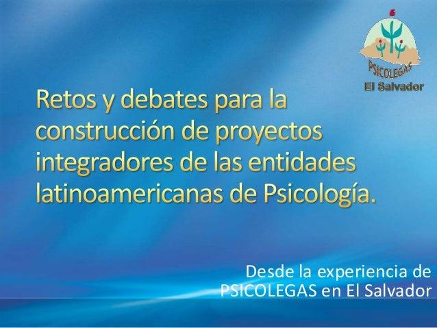 Retos en la construcción de proyectos gremiales en la psicología latinoamericana