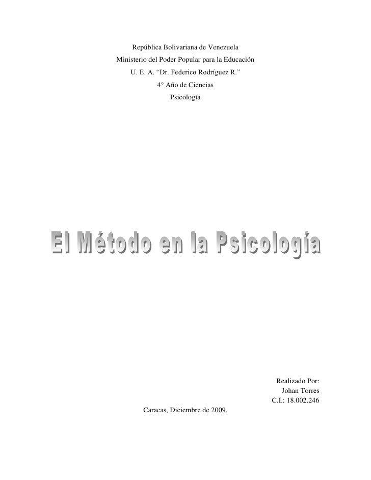 """República Bolivariana de Venezuela<br />Ministerio del Poder Popular para la Educación<br />U. E. A. """"Dr. Federico Rodrígu..."""