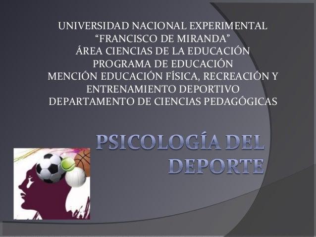 """UNIVERSIDAD NACIONAL EXPERIMENTAL """"FRANCISCO DE MIRANDA"""" ÁREA CIENCIAS DE LA EDUCACIÓN PROGRAMA DE EDUCACIÓN MENCIÓN EDUCA..."""