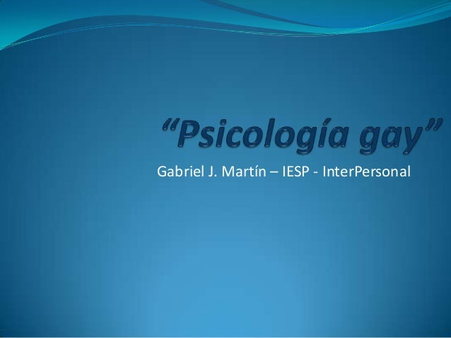 Gabriel J. Martín – IESP - InterPersonal