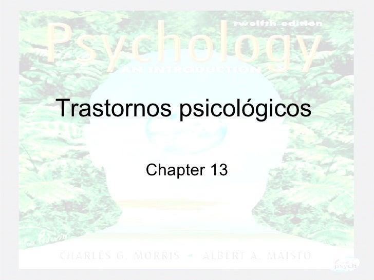 Trastornos psicológicos  Chapter 13
