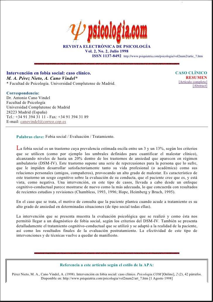 Psicologia.com,2(2) intervenc en_fobia_social_caso_clinico.perez_y_cano