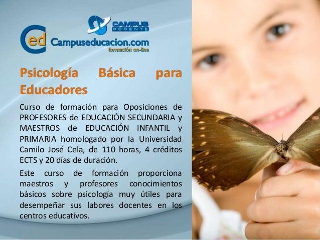 Psicología Básica para Educadores Curso de formación para Oposiciones de PROFESORES de EDUCACIÓN SECUNDARIA y MAESTROS de ...