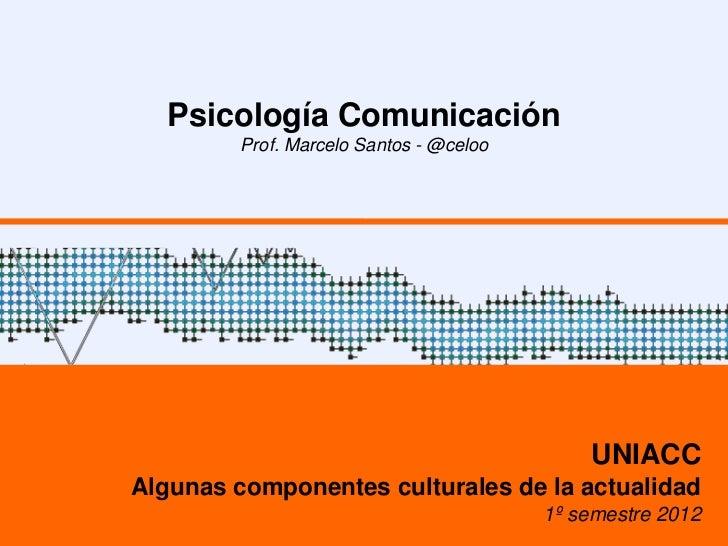 Psicología Comunicación         Prof. Marcelo Santos - @celoo                                             UNIACCAlgunas co...