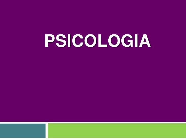 Psicologia: conceptos