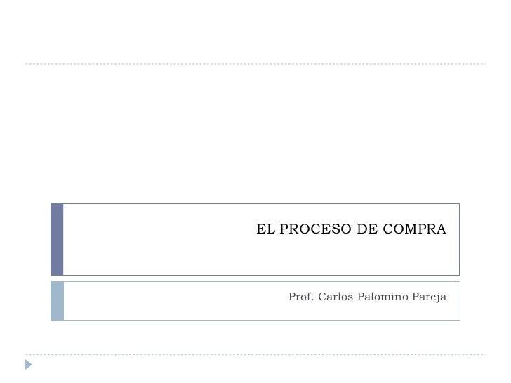 EL PROCESO DE COMPRA Prof. Carlos Palomino Pareja