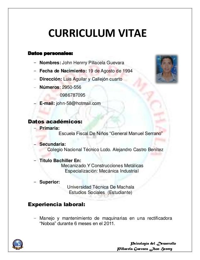 Como Hacer un Curriculum Vitae: Como Hacer Un Curriculum De Jugador ...