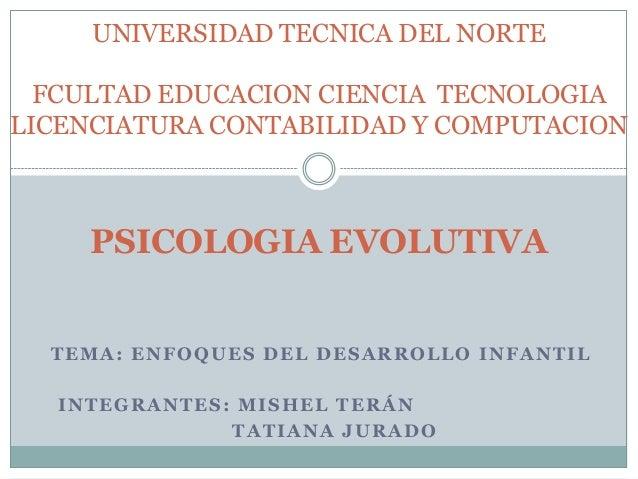 UNIVERSIDAD TECNICA DEL NORTE FCULTAD EDUCACION CIENCIA TECNOLOGIA LICENCIATURA CONTABILIDAD Y COMPUTACION  PSICOLOGIA EVO...