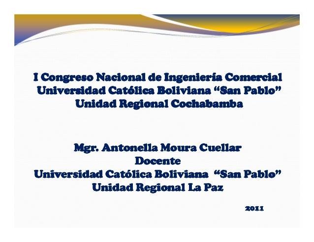 I Congreso NacionalI Congreso NacionalI Congreso NacionalI Congreso Nacional de Ingeniería Comercialde Ingeniería Comercia...