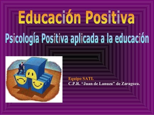 Psicologia positiva educacion